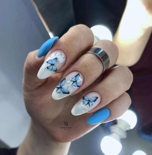 Butterfly manicure - new design photo