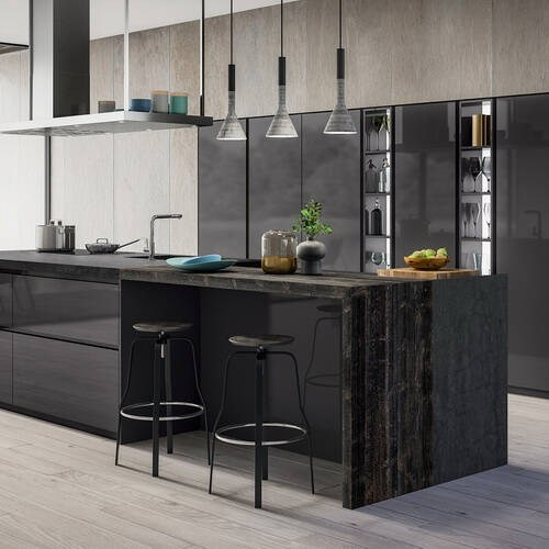 Projects of houses with elite kitchens