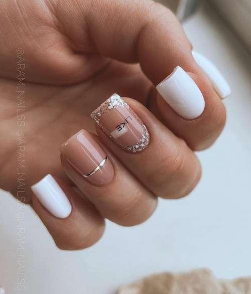 Chic milk manicure