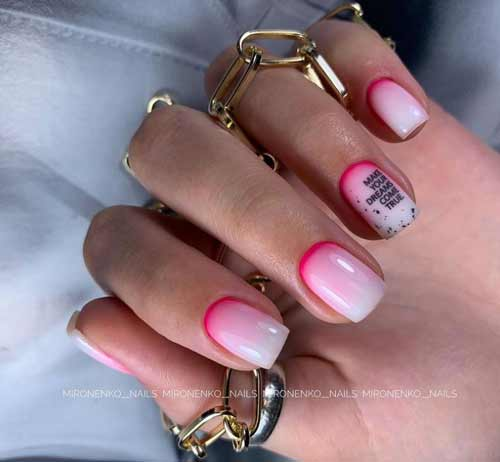 Milky Gradient Short Nails