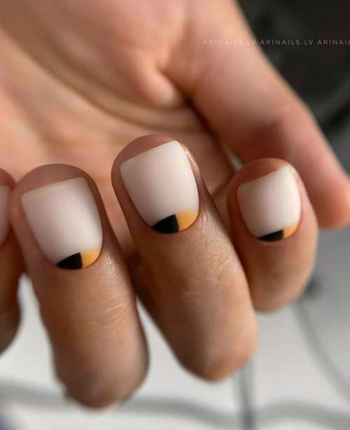 Matte Milky Reverse French