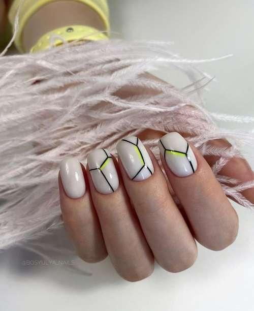 Milk manicure photo