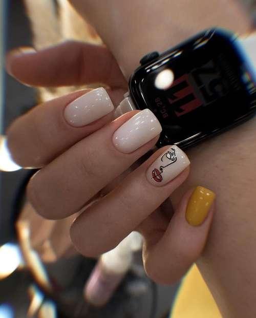 Milk manicure for short nails 2021: photo, fashion design