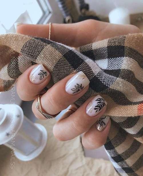 Milky very short nails