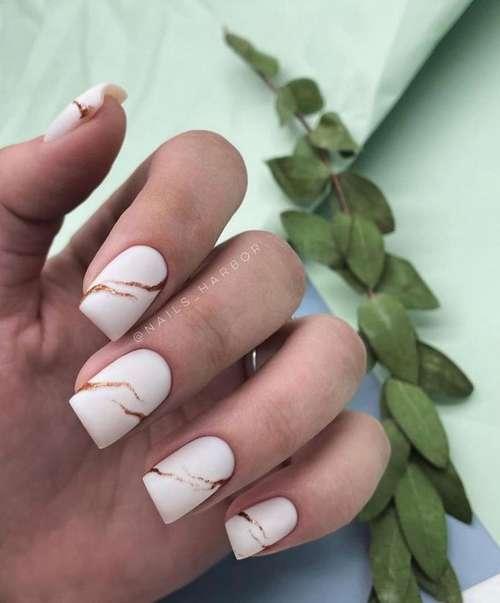 Matte Milk Manicure