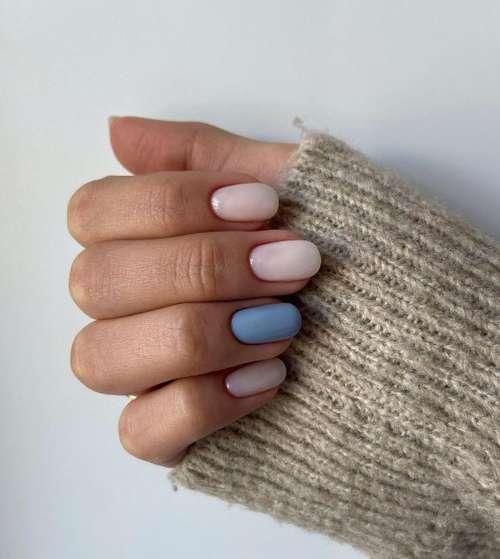 Milk manicure ideas in the photo