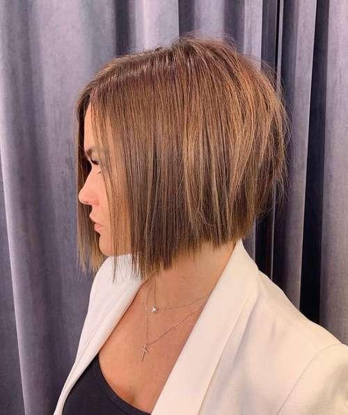 Bob haircut side view