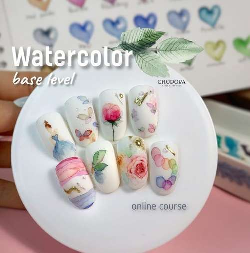 Watercolor on nails