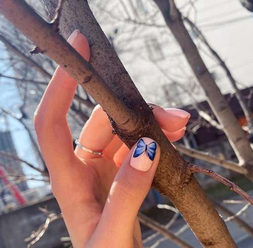 Butterfly on one nail