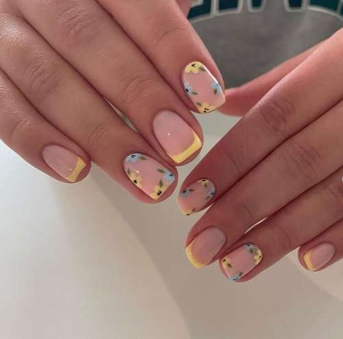 Beautiful manicure with drawings