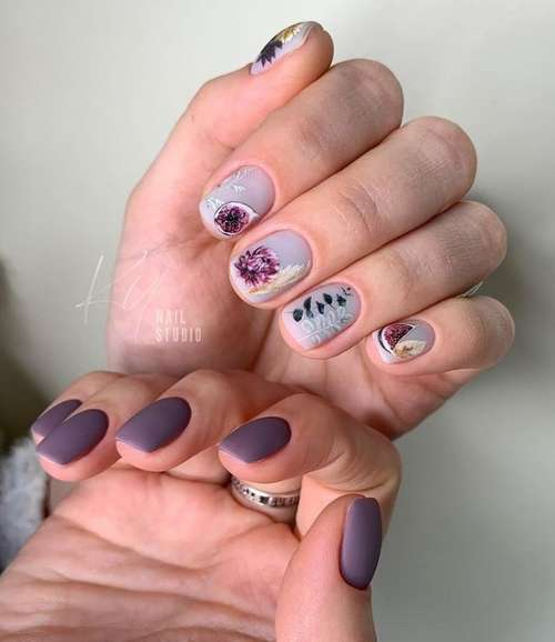 Manicure drawings fruits
