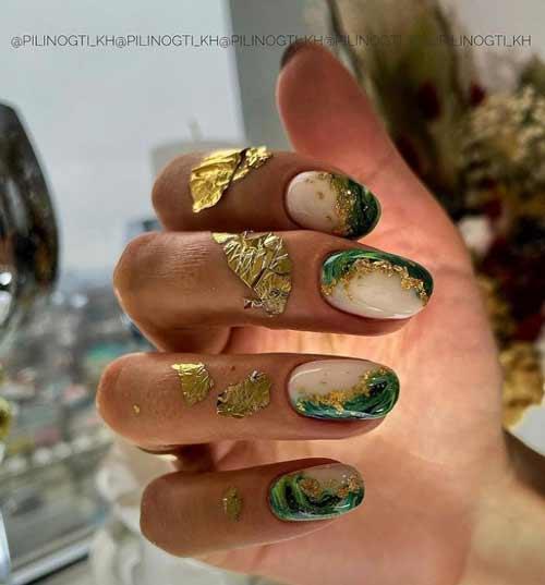 Malachite manicure