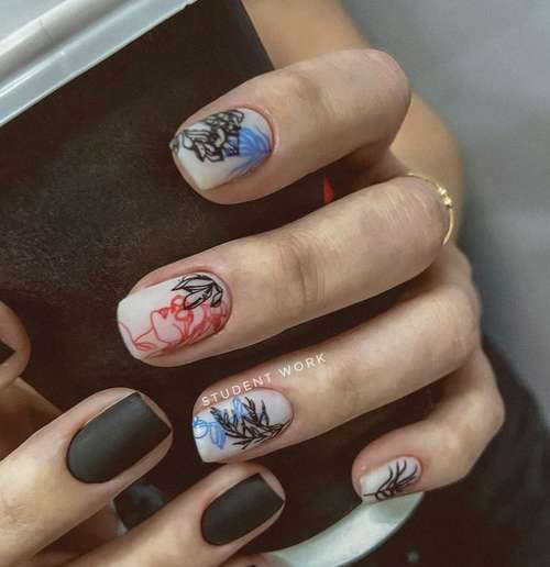 Original drawings on nails