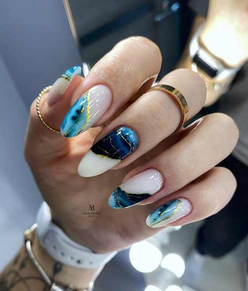 Stains on nails with sliders