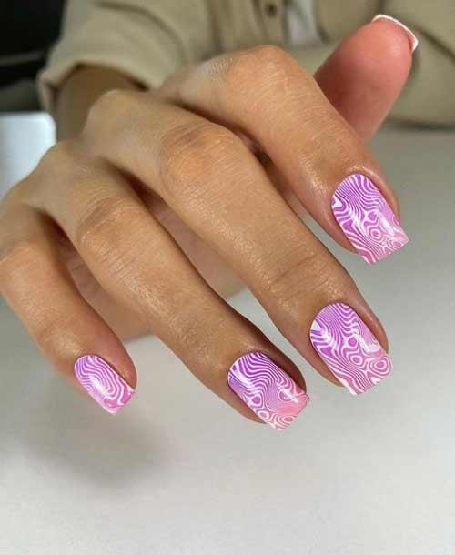 Divorced nails stamping design