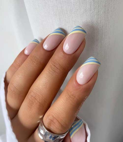 French with colored stripes