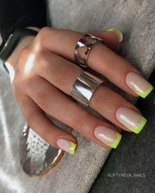 Neon green french