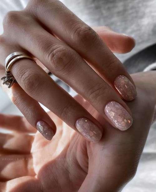 Beige glitter translucent background