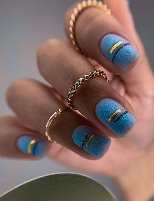 Short nails translucent manicure