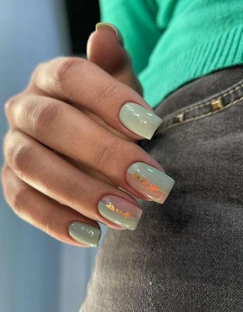 Translucent nail design with decor