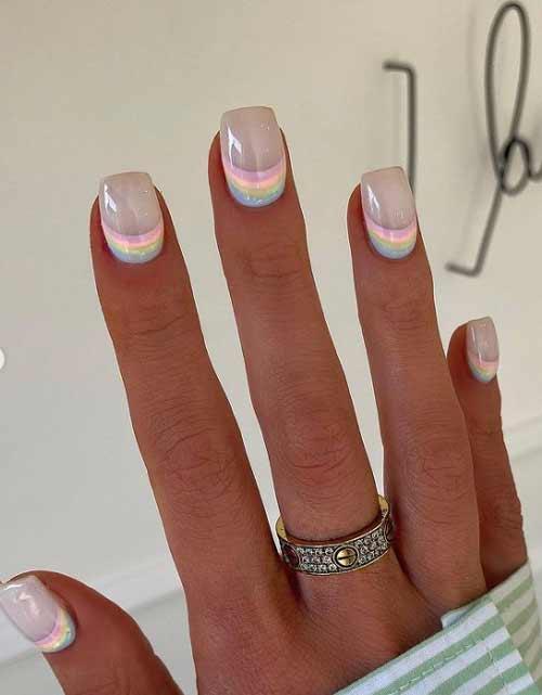 Translucent nail design