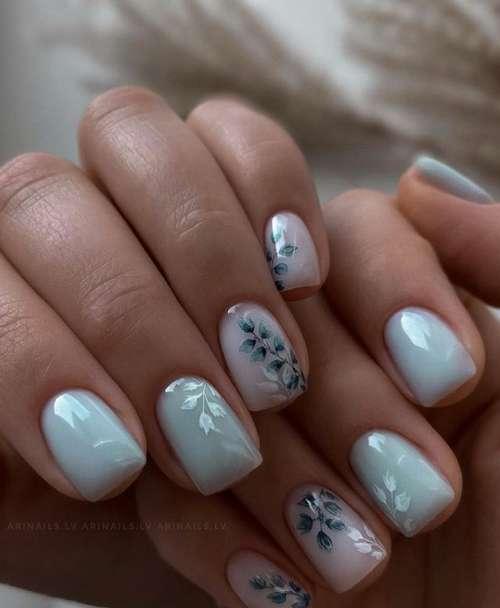 Translucent manicure with design 2021-2022: photo novelties