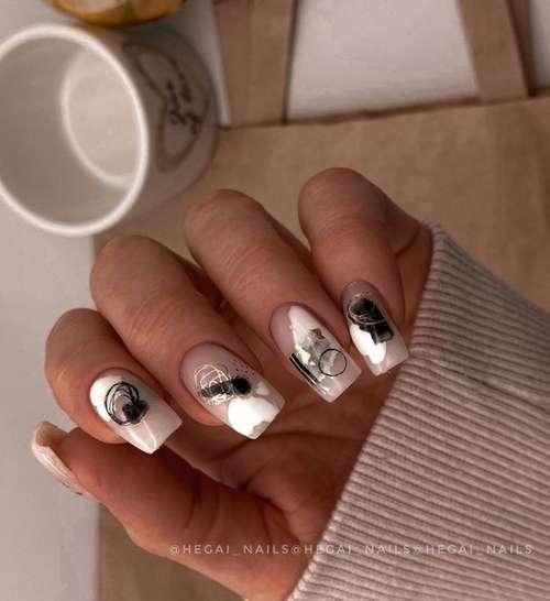 Translucent white manicure