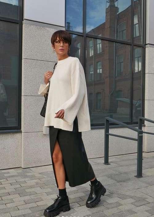 Slit Skirt Look