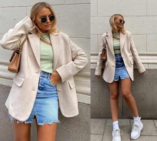 Denim mini skirts fashionable images