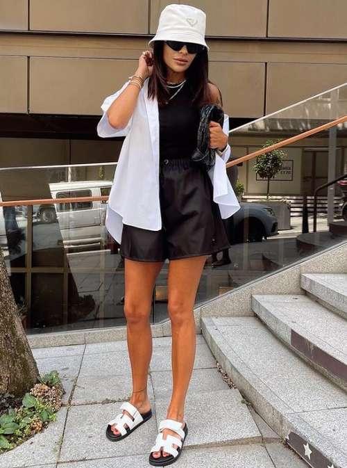Leather shorts photo images