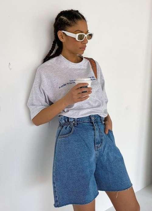 Denim Shorts looks