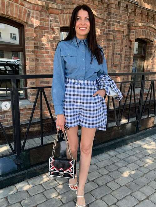 Checkered shorts photo with what to wear