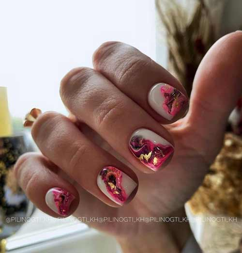 Manicure with divorces photo