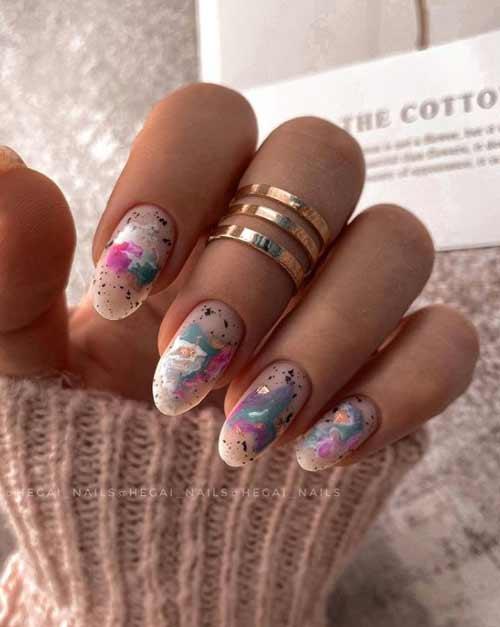Quail print on nails