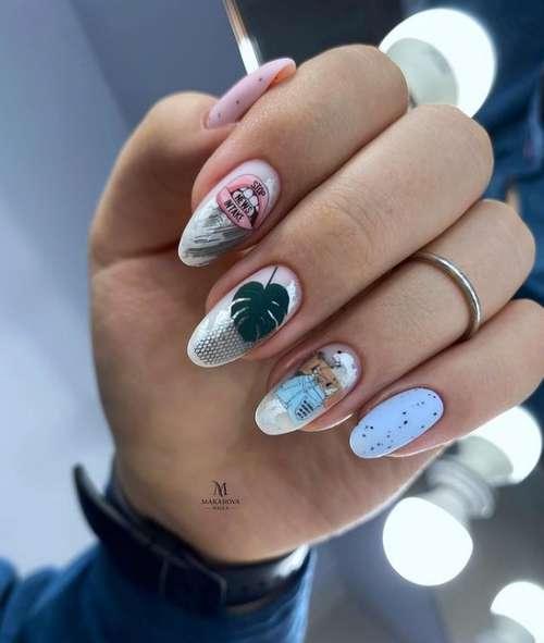 Quail egg manicure 2021: photos of the newest ideas