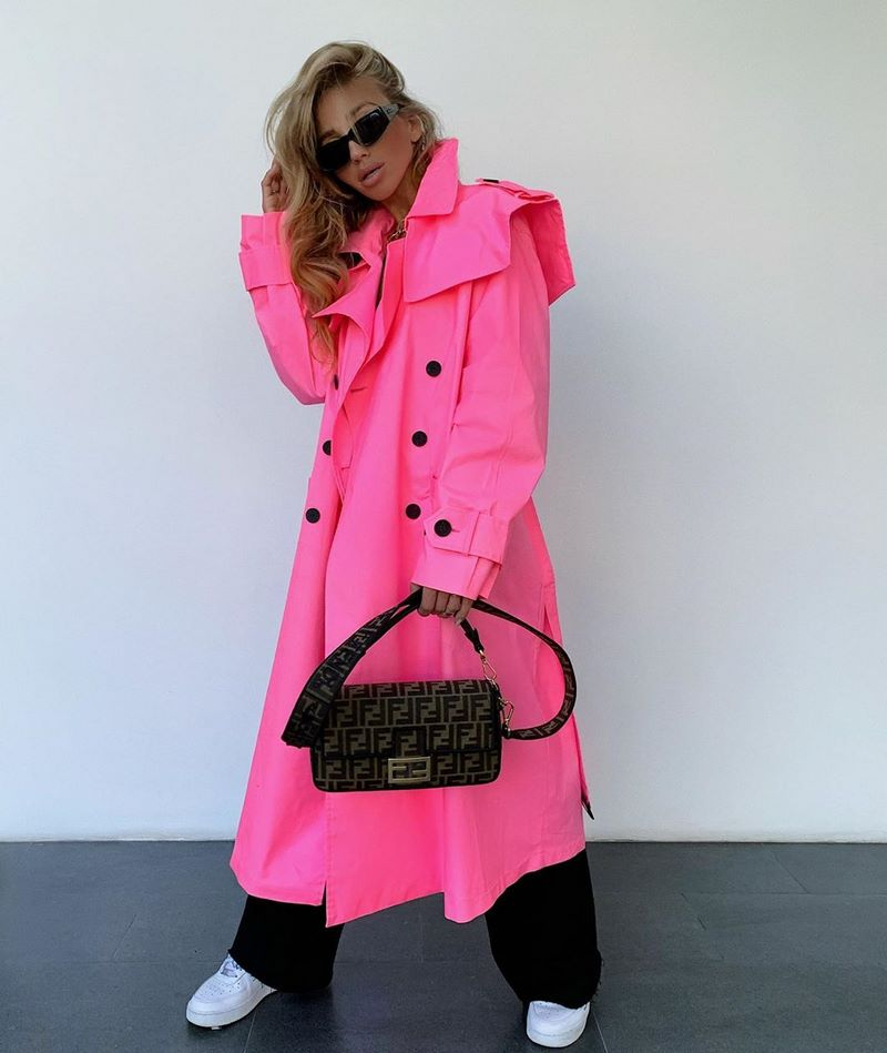 Women's trench coats and raincoats for the season 2021-2022.  Actual styles and models