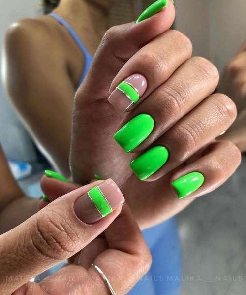 Bright short nails