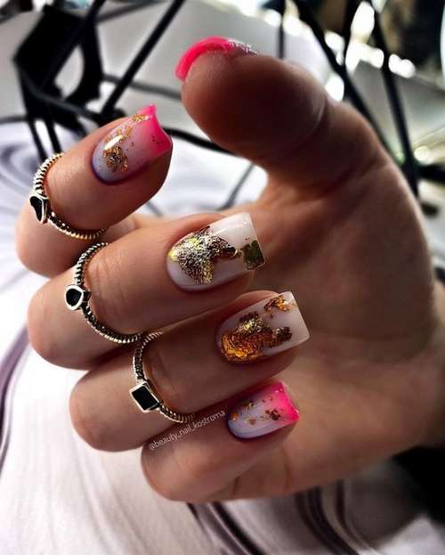 Bright nails with decor