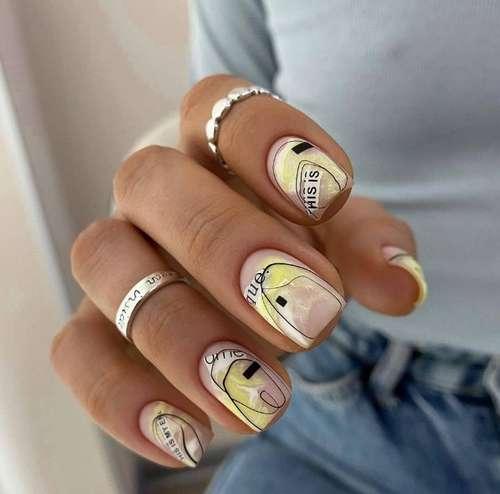 Summer bright nail design