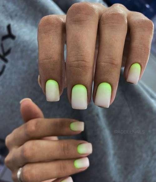Bright short nail design