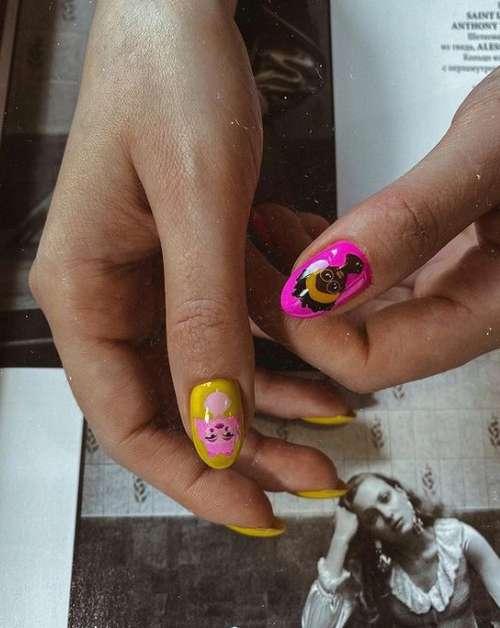 Bright youth nail design