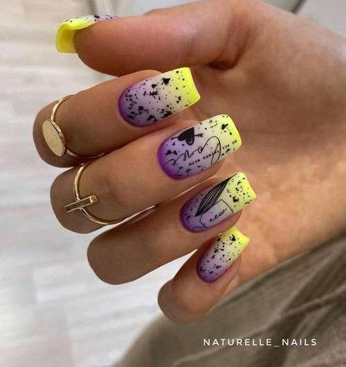 Bright square nails