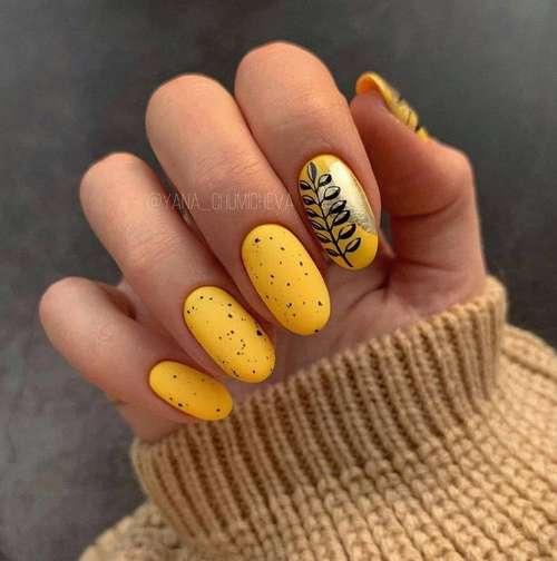 Yellow manicure