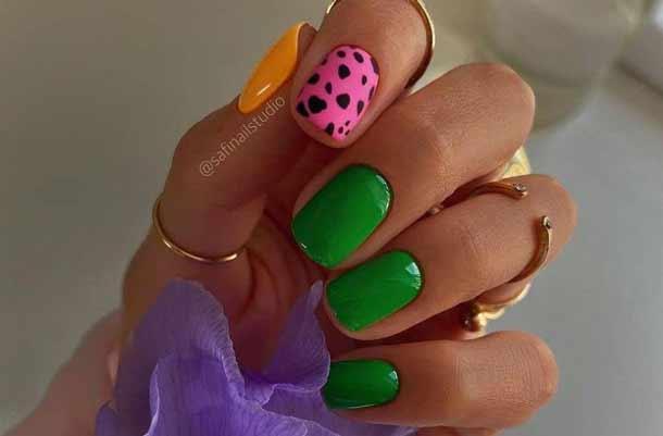 Яркие ногти дизайн фото