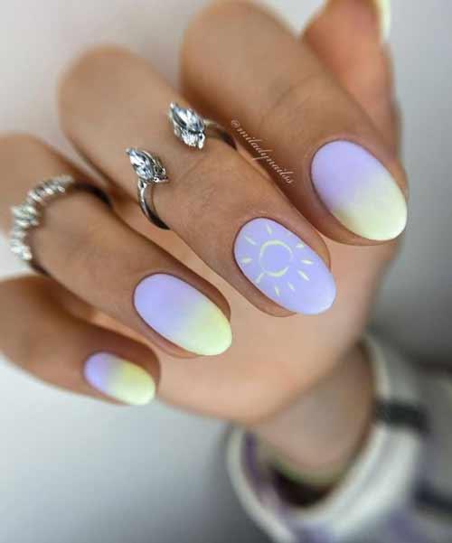 Marine manicure design ideas with pattern