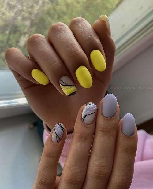 Design nails sea photo