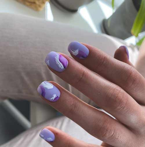 Aqua design marine manicure
