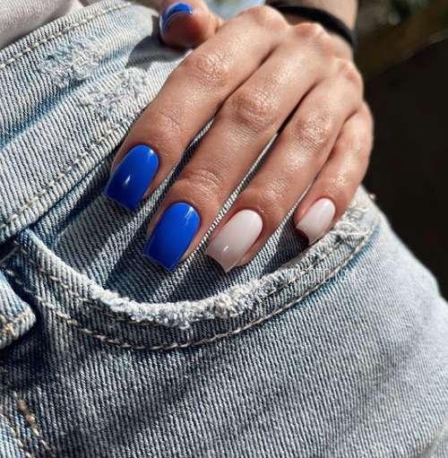 Marine manicure 2021: new nail designs at sea, photos