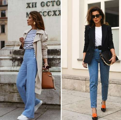 Jeans with ankle slits
