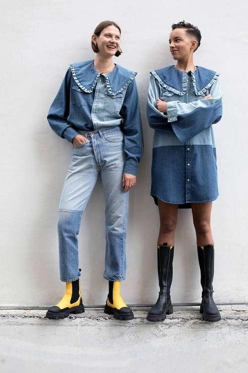 Jeans fashion patchwork